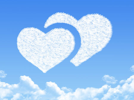 heart concept cloud shape photo