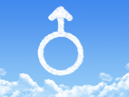 Male symbol concept cloud shape photo