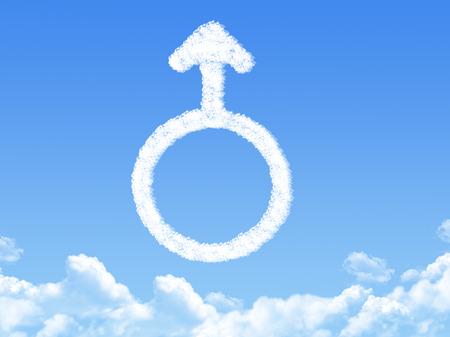 Male symbol concept cloud shape photo