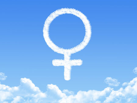 Female symbol concept cloud shape photo