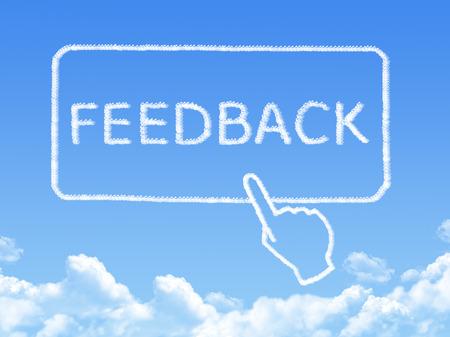 Feedback message cloud shape