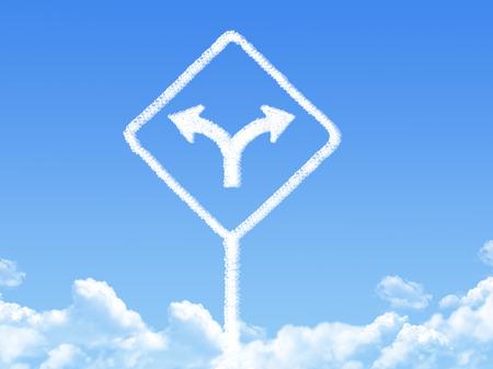 choose a path: Sign cloud shape Stock Photo