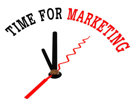 time for marketing concept clock photo
