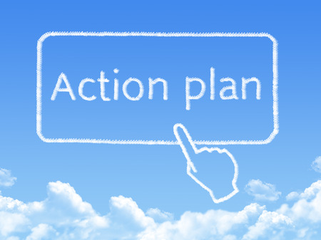 Action plan message cloud shape photo