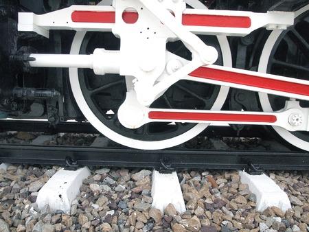 steam locomotive wheels close up  photo