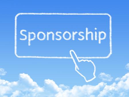 Sponsorship message cloud shape Standard-Bild