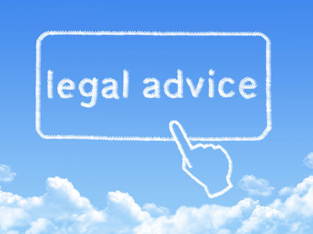 Legal advice message cloud shape photo