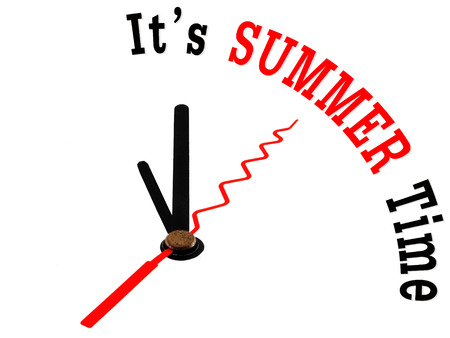 summer time concept clock photo