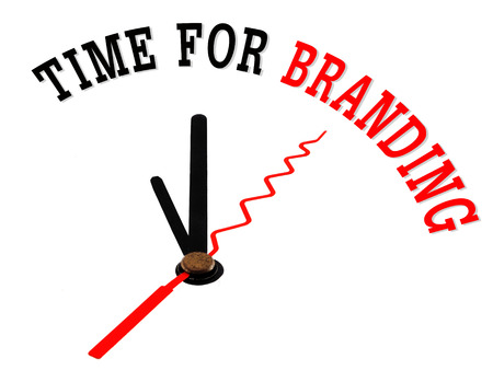 time for branding concept clock photo