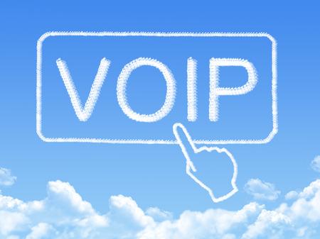 VOIP message cloud shape photo