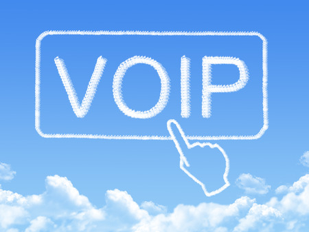 mobile voip: VOIP message cloud shape