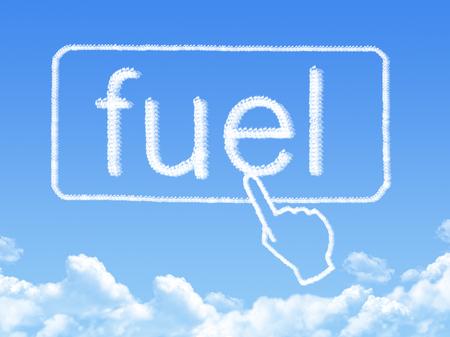 fuel message cloud shape photo