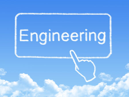 Engineering message cloud shape photo