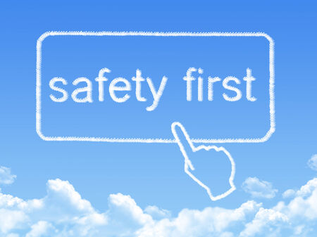 safety first message cloud shape photo