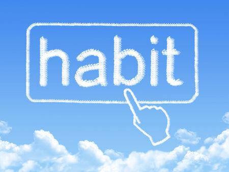 habit: habit message cloud shape