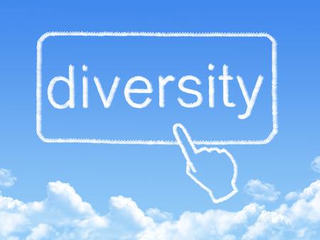 elearn: diversity message cloud shape Stock Photo