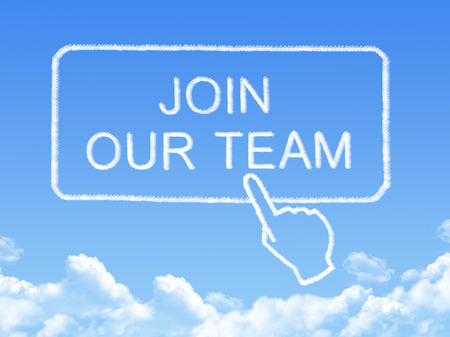 join our team message cloud shape photo