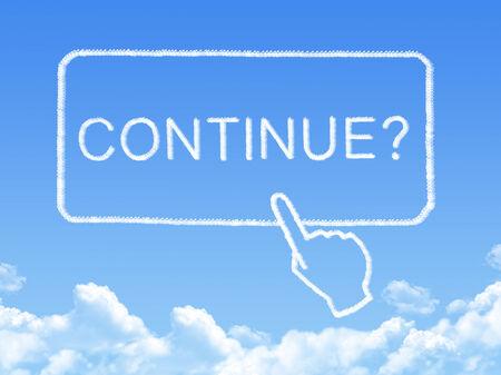 continue message cloud shape Standard-Bild