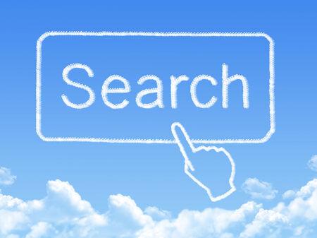 search message cloud shape