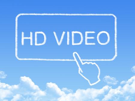 HD video message cloud shape photo