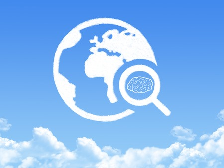 brain search cloud shape photo