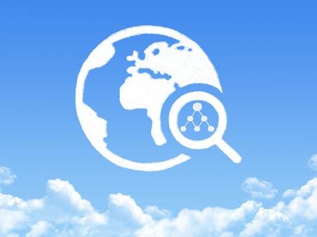 network search cloud shape photo