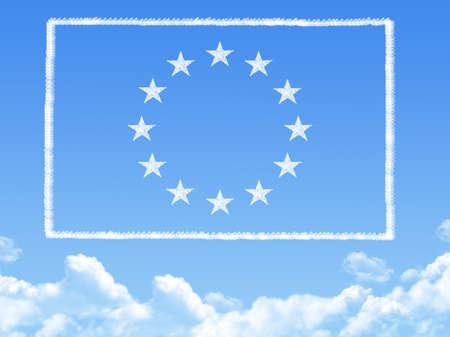 EU flag cloud shape photo