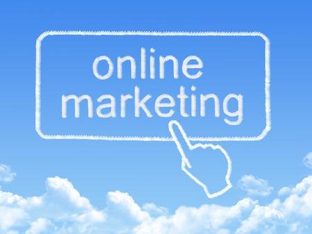 online marketing message cloud shape photo