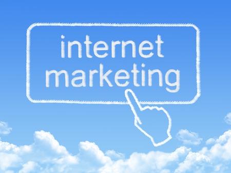 internet marketing message cloud shape photo