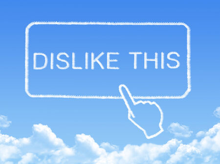 dislike: Vind dit bericht cloud vorm
