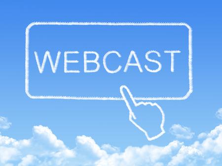 webcast message cloud shape photo