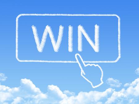 win message cloud shape