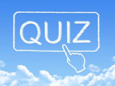 quiz message cloud shape photo