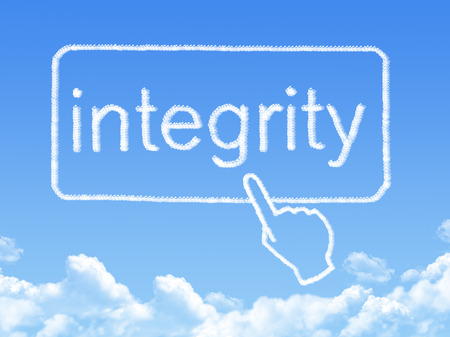 elearn: integrity message cloud shape Stock Photo