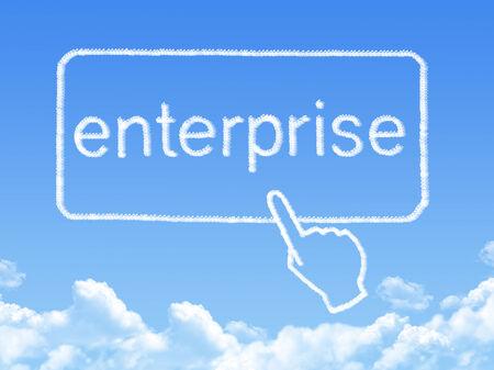 enterprise message cloud shape photo