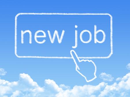 new job message cloud shape