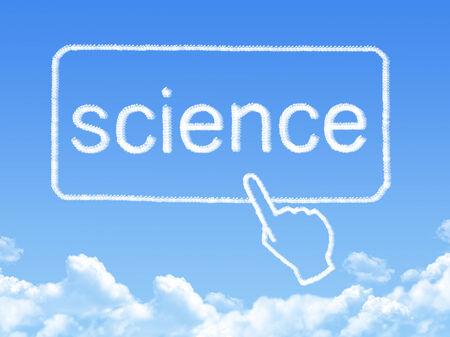 Science message cloud shape photo