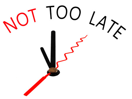 not too late with clock concept
