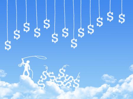 make money cloud shape, Business idea