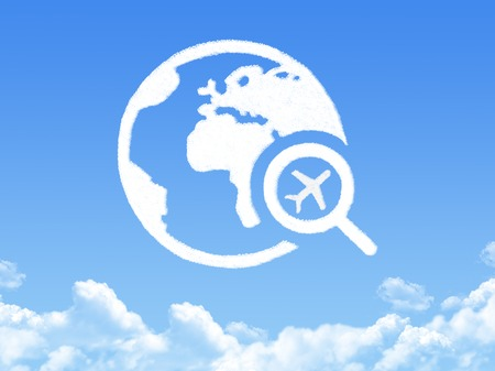 plane search cloud shape photo