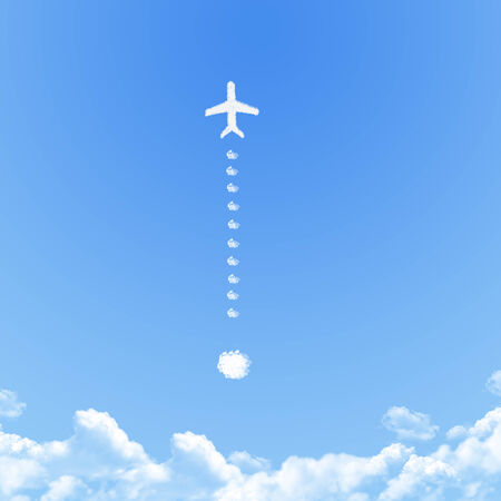 appalled: Plane on Cloud shaped ,dream concept