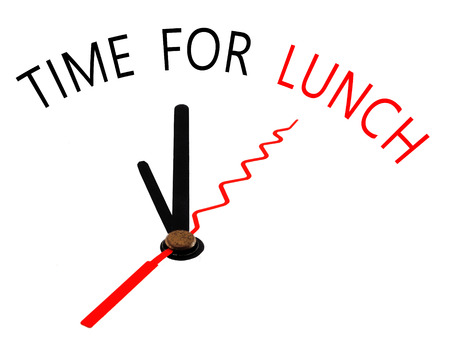 Time for Lunch with clock concept photo