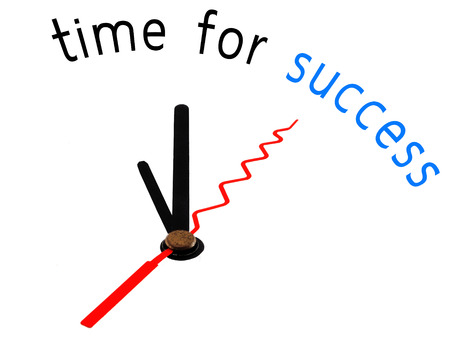 Time for success with clock concept photo