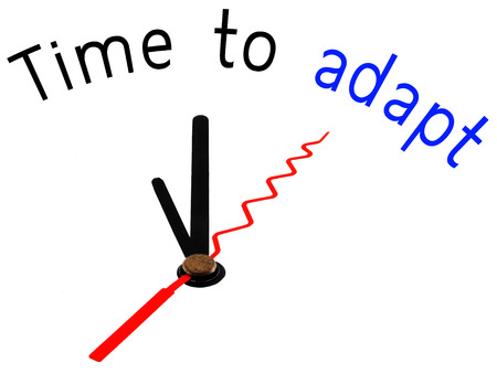 adapt: Time to adapt with clock concept Stock Photo