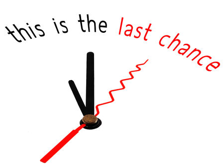 last chance: this is the last chance with clock concept