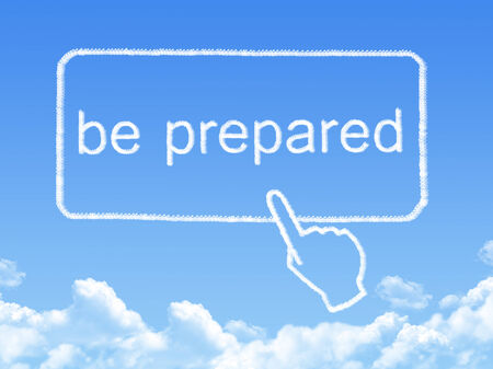 retire: be prepared message cloud shape
