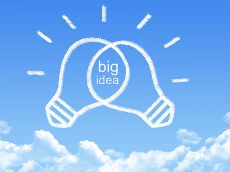 Cloud shaped as idea concept photo