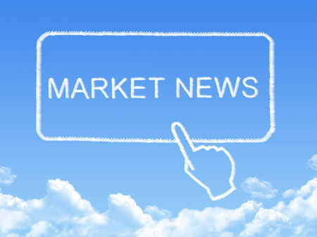 market news message cloud shape photo