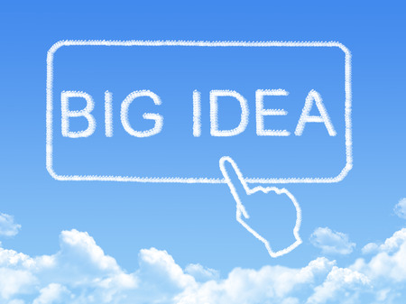 big idea message cloud shape photo