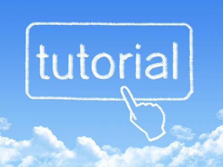 tutorial: tutorial message cloud shape Stock Photo